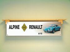 Alpine RENAULT A110 Banner Vintage Classic Auto Garage Officina Display Mostra
