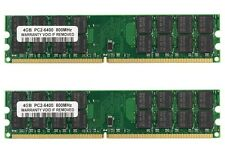 Memoria Ram 8Gb (KIT 2x 4Gb) PC2-6400u compatibile INTEL DDR2-800MHz PC Desktop