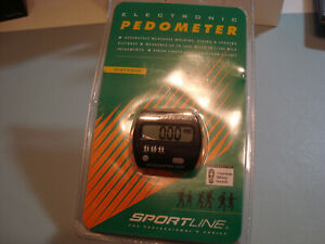 SPORTLINE ELECTRONIC PEDOMETER WALKING JOGGING #340 NEW
