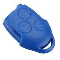 FORD TRANSIT CONNECT MK7 BLUE REMOTE KEY FOB CASE 3 BUTTON SHELL COVER 2007-ON