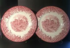 Wedgwood Romantic England Queens Ware Dinner Plates Set of 2