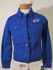NWT Levis Buffalo Bills NFL Womens Twill Trucker Jacket M Blue MSRP$98