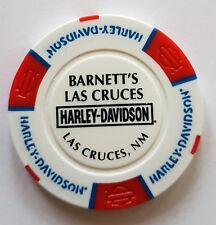 "1 Orig. Harley-Davidson Pokerchip ""Barnett`s H-D, Las Cruces NM, USA"""