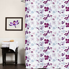 "Fabric Shower Curtain 70""x72"" Joanne Multi Floral Print Polyester"
