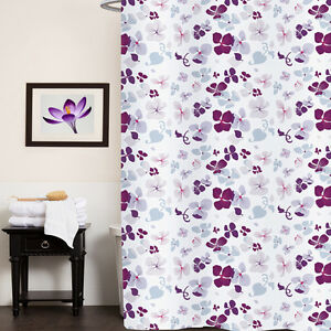 """Fabric Shower Curtain 70""""x72"""" Joanne Multi Floral Print Polyester"""