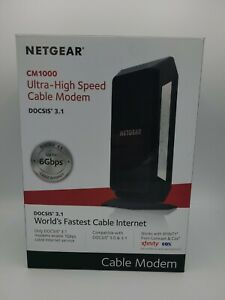 NETGEAR CM1000 DOCSIS 3.1 Cable Modem Black