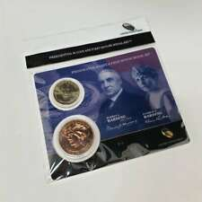 2014 Presidential $1 Coin & 1st Spouse Medal Warren & Florence Harding CBX4PD12