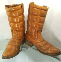 Sub Zero Tan Brown Waterproof Cowboy Western Hunting Boots Size 11D Vibram Sole