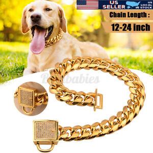 Gold Pet Choke Chain Necklace Collar Small Cat Dog French Bulldog Puppy Teddy