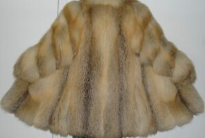 Revillon Golden Island Fox Fur Jacket Coat Size 8-10 FREE SHIPPING Excell Condit