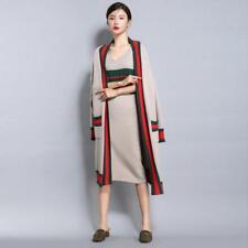 Women Long Cardigan New KnittingThick Sweater Oversize Jacket Coat Outdoor Vogue