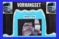 LKW Gardinenset schwarz weiß 5 Tlg MAN TGA Dekoration Innenausstattung