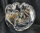 """Orrefors Crystal Thick Swirl Waterfall Rose Vase 4 1/2"""" High 5 Pounds Signed"""