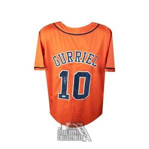 Yuli Gurriel 17 WSC Autographed Houston Astros Custom Baseball Jersey - BAS COA