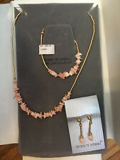 Stone n' String Coral Necklace, Bracelet And Earrings Set NWT!