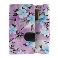 Handyhülle für LG K8 Blumenmuster Schutzhülle Flip Wallet Case Cover Tasche