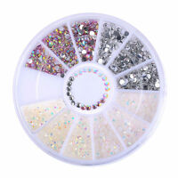 3D Nagel Glitzersteine Acryl UV Gel Straßsteine Nageldesign Nail Art Deko Rad