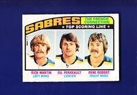 Martin/Perreault/Robert HOF 1976-77 O-PEE-CHEE OPC Hockey #214 (EX+) Sabres