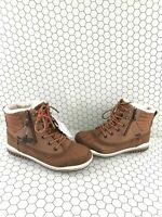 Pajar PUMMEL Brown Waterproof Insulated Lace Up/Zip Snow Boots Men's Size 8/8.5