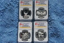 2014, Canada, $20, NGC, White Tailed Deer set, PF70 UC, Early Releases