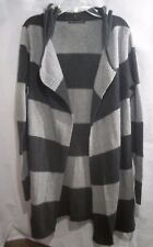 Women's Size S Long, Wrap Open Front Sweater; Bajee Collection by BeCool