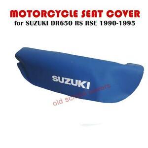 Motorrad Sitzbezug Passend für Suzuki DR650RS DR650RSE 1990-1995 Blau