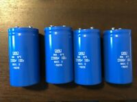 4 New 22000 uf 100v Chemi-Con Capacitors for Pioneer Spec 2 Amplifier EXACT FIT