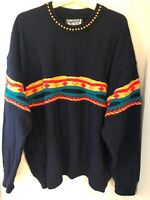 Men's Vintage Wool Alive Coogi Style Sweater New Zealand Wool Textured, size XL