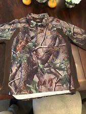 Under Armour Mens Heat Gear Realtree Long Sleeve Polo Style Shirt Large
