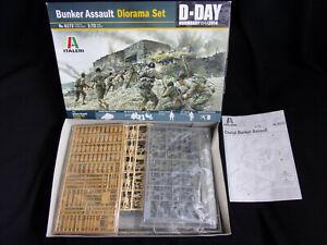 Bunker Assault Diorama Set Italery 6172 1/72 plastik model kit RARE OVP