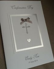 Handmade Personalised Confirmation Christening Holy Communion Baptism Day Card