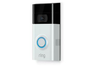 Timbre inalámbrico - Ring Doorbell 2, Videoportero, 1080 HD, Wifi, Negro, Gris