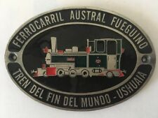 FERROCARRIL Austral Nameplate Narrow Gauge 'Camila' Loco Tren Del Fin