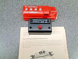 American Flyer S Gauge 1957 Original Renwal Red Gasoline Truck Factory Load #915