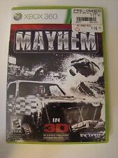 Mayhem (Microsoft Xbox 360, 2011) 3D ~ MANUAL, CASE, NEAR MINT DISC COMPLETE