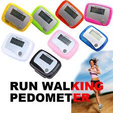 Mini Digital LCD Pedometer Run Jogging Step Walking Distance Calorie Counter