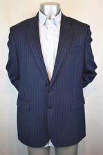 Men's CHARLES TYRWHITT Blazer 2 Side Vents Blue Stripes Sz 42R 100% Wool London