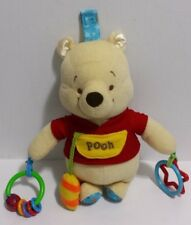 "Disney Baby Activity Toy Winnie the Pooh Bear Plush 9"" For Car Seat EUC"