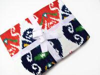 "Williams Sonoma Cotton Multi Color Ikat Print Dinner Tablecloth 70"" X 108"" New"