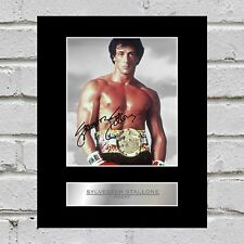 Sylvester Stallone Signed Mounted Photo Display Rocky