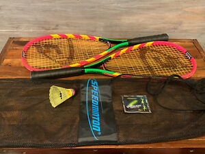 NEW Speedminton Badminton Set Two Rackets With Mesh Case S600  Speed-light POP