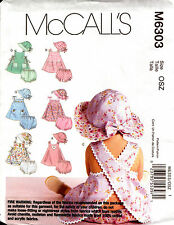 McCalls Sewing Pattern 6303 Baby Dresses Pants & Hat Sewing Pattern NEW