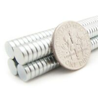"""Neodymium Magnets - 1/4"""" x 1/16"""" - N35 Disc Magnet - Crafts Strong 6mm x 1.5mm"""