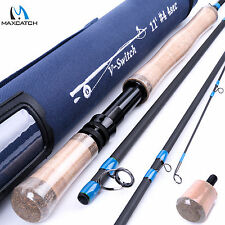 Switch Fly Fishing Rod 11FT 4WT 4Sec Switch Fly Rod Graphite & Cordura Rod Tube