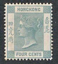 HONG KONG 38 MINT LH, 4c SLATE VICTORIA, WMK CA