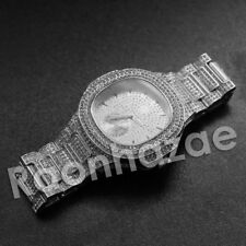 ICED OUT BLING LUXURY  HIP HOP J. COLE IMMORTAL SILVER  TECHNO KING WRIST WATCH