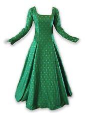 Long Sleeve Fleur de Liz Dress Mardi Gras Renaissance Medieval Style Lace Up GOT