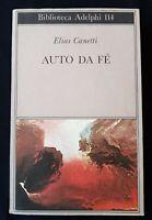 AUTO DA FE' -  ELIAS CANETTI - 1985