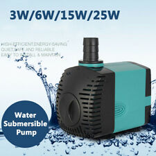 3/6/10/25W Ultra-Quiet Submersible Water  Pump Filter Fish Tan