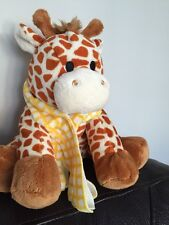 "Cuddle crew giraffe 9"" Plush soft cuddly toy  asda yellow check scarf plush  ch"